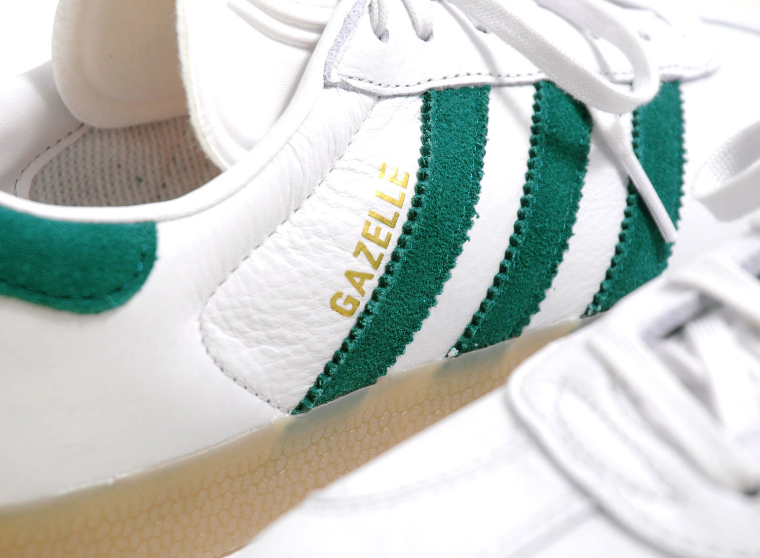 adidas gazelle white green stripes