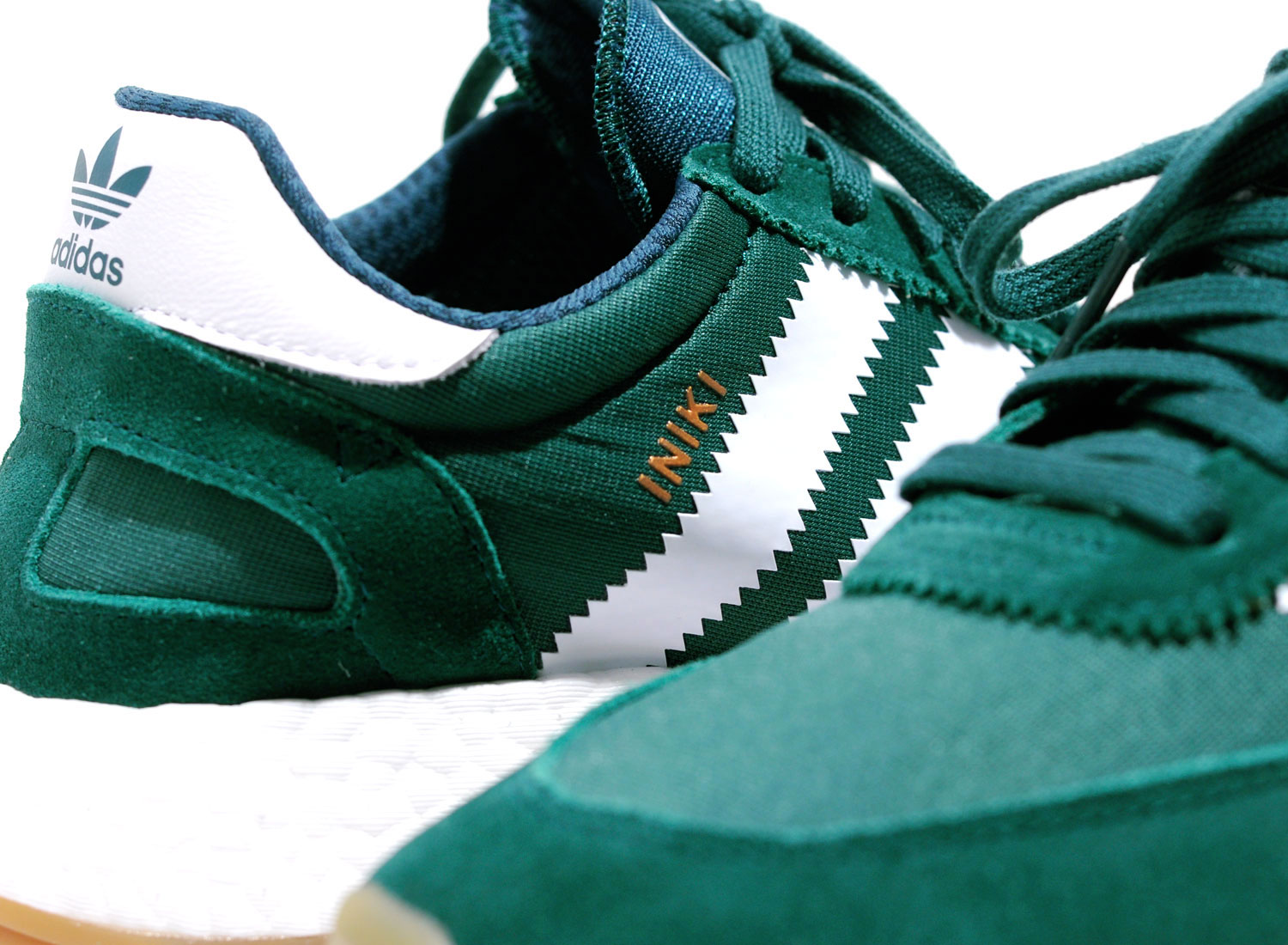 nice shoes best cheap factory price Adidas Originals Iniki Runner Boost Green White