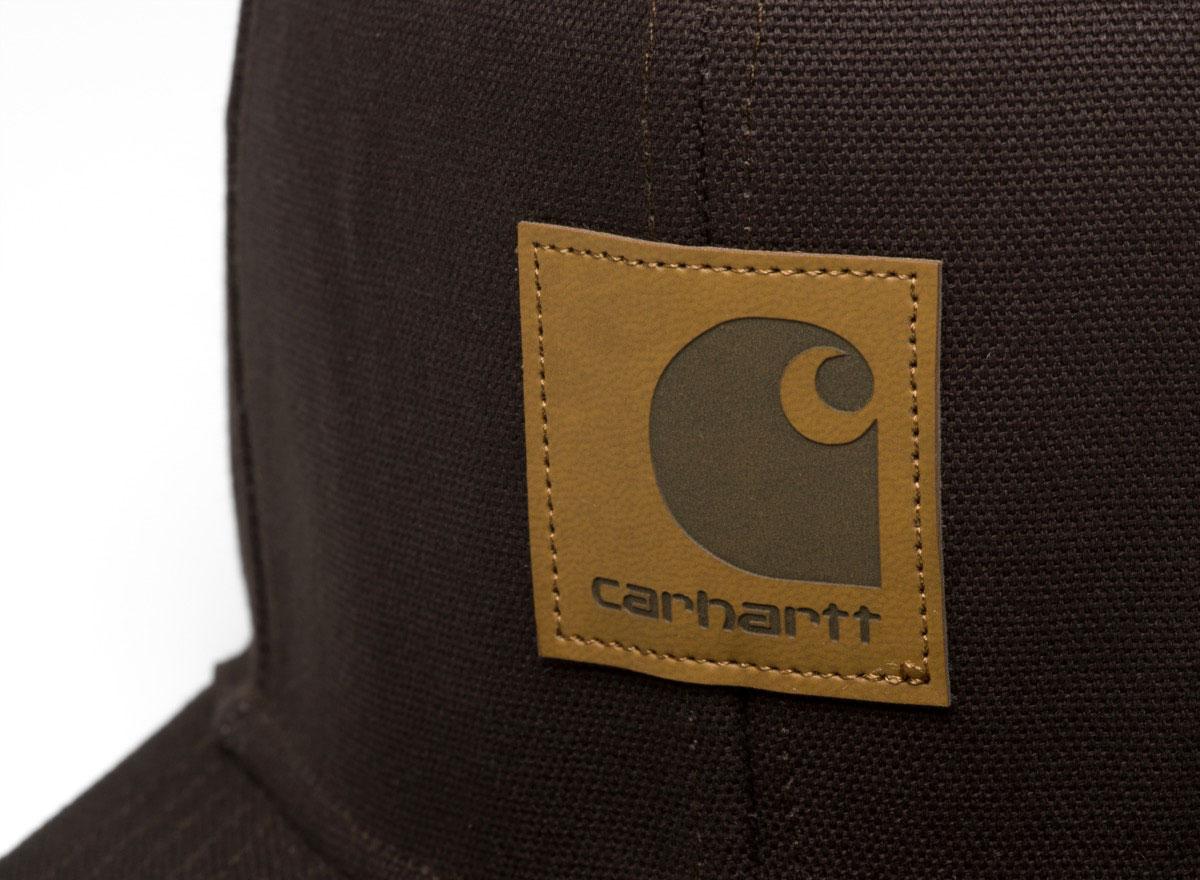 5622c3d936a8e Carhartt Logo Cap Tobacco I023099   Soldes   Novoid Plus