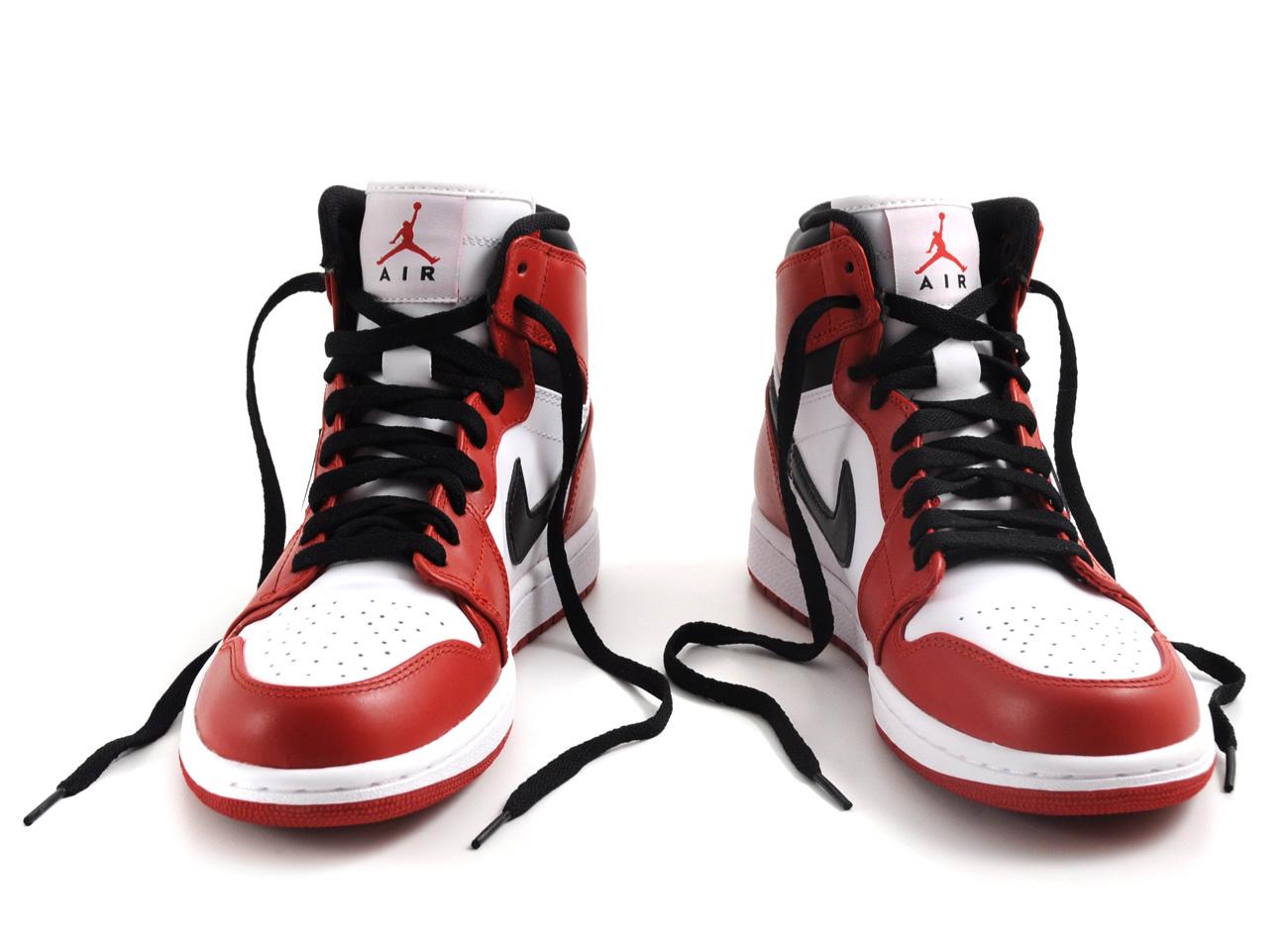 nike air jordan 1 red black white