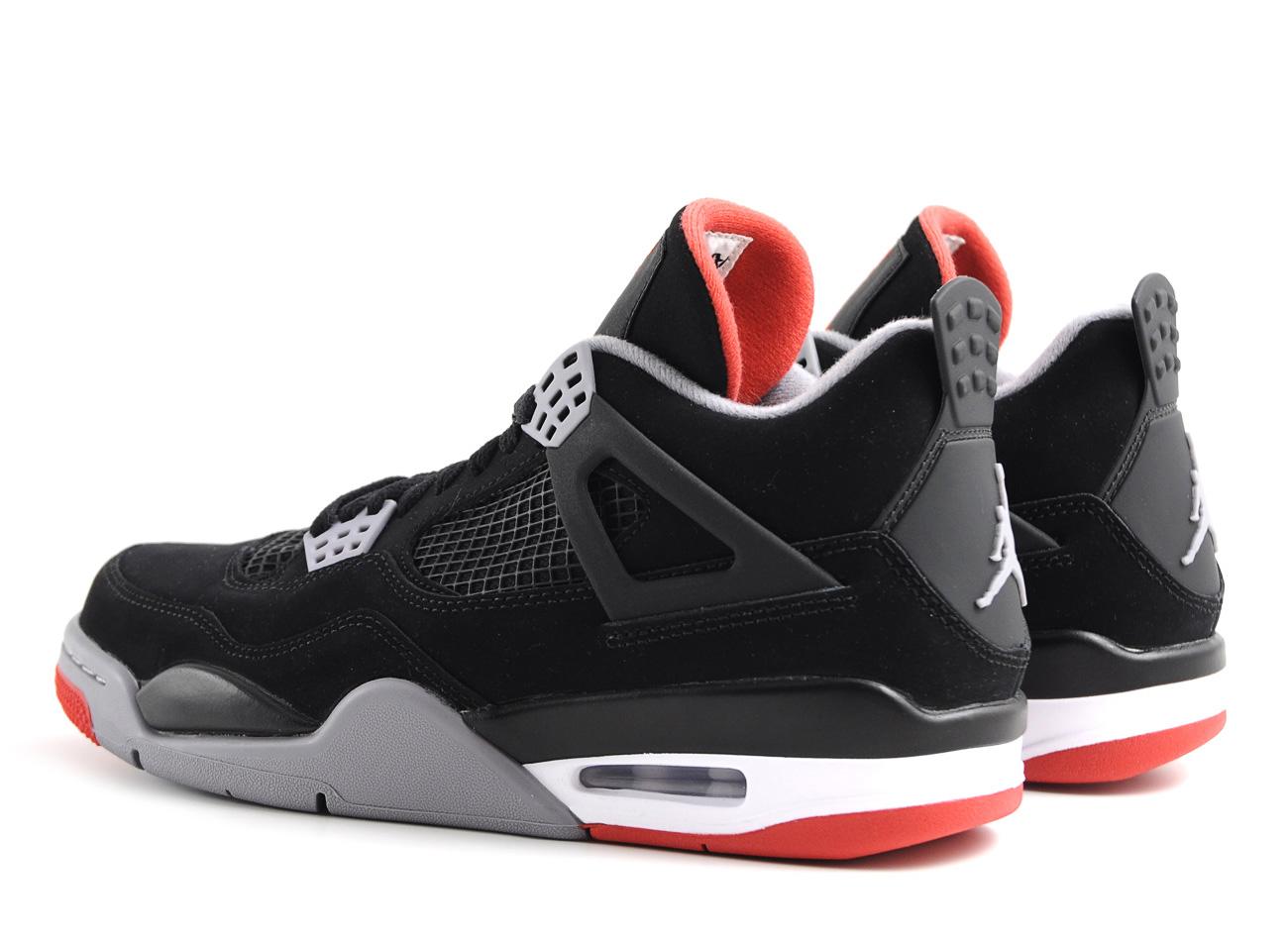 Nike Air Jordan 4 Retro Black / Cement Grey / Fire Red | Novoid Plus