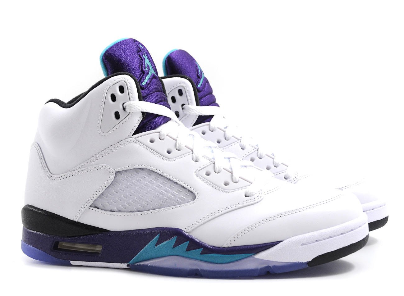 Nike Air Jordan 5 Grape White / New Emerald Grape Ice Blue ...