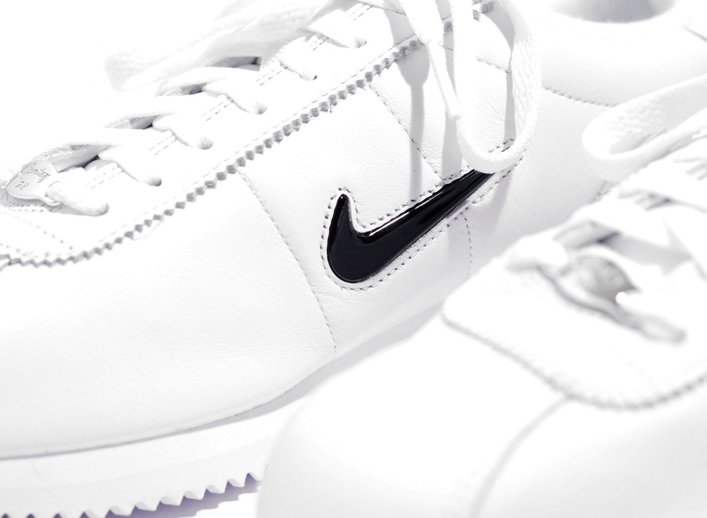 b594d3c0e5 Nike Cortez Basic Jewel QS White / Black 938343-101 / Soldes / Novoid Plus