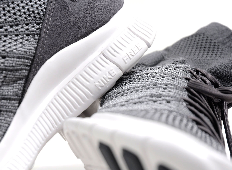9c3d5495acbd Nike Free Flyknit Mercurial Dark Grey   White 667978-009   Soldes   Novoid  Plus