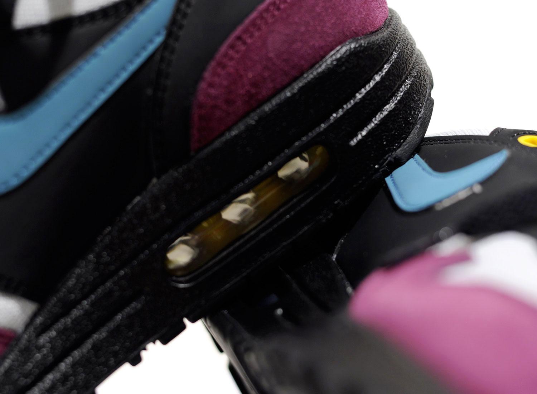 Nike Wmns Air Max 1 Black   Geode Teal 319986-040   Soldes   Novoid Plus befdec86f