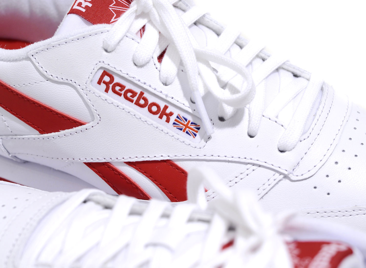 e1dd4ed3b Reebok Classic Leather Ripple Low White / Red BS8299 / Soldes / Novoid Plus