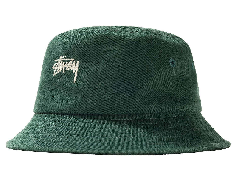 Stussy Stock Bucket Hat Green Soldes Novoid Plus