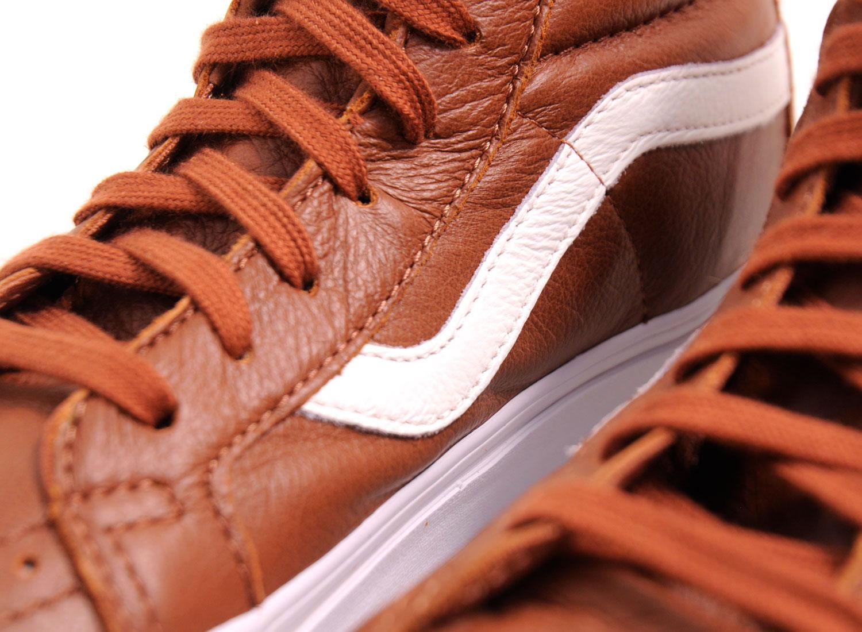 03a6d95aed23ca Vans Sk8 Hi Reissue Premium Leather Tortoise Shell   Soldes   Novoid Plus
