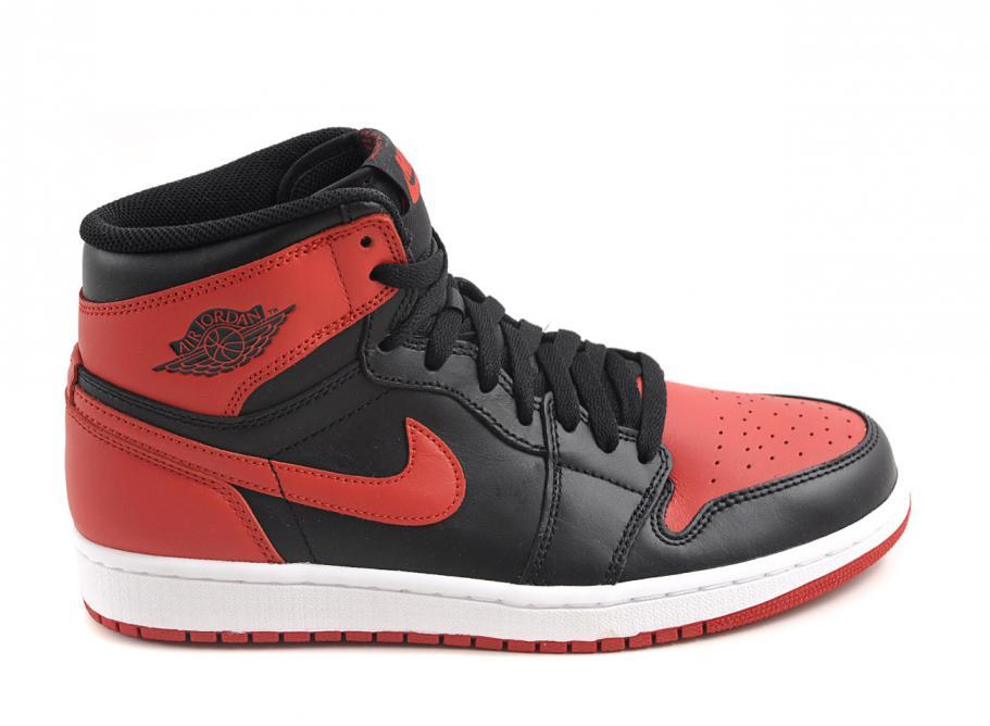 acheter pas cher a72d4 25c3a Nike Air Jordan 1 Retro High Bred OG Black / Varsity Red