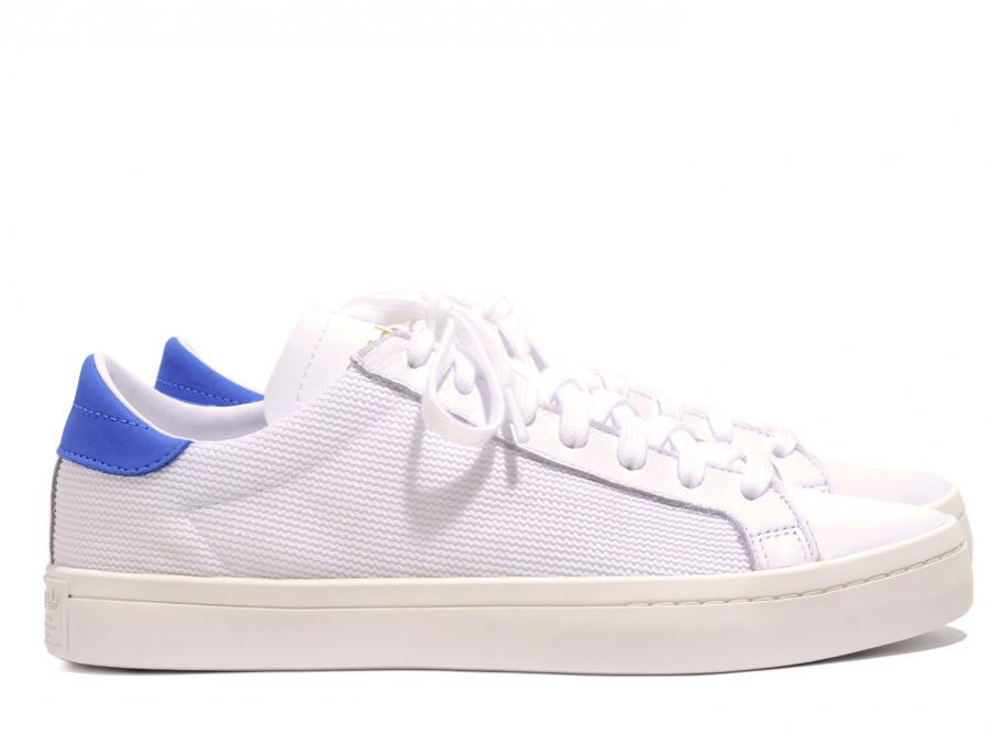 Adidas Court Vantage White   Bright Blue CQ2569   Soldes   Novoid Plus 89b83f506018