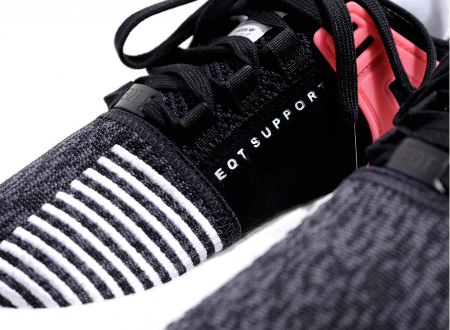 new product 97512 44bed Adidas Originals EQT Support 93/17 Black / Turbo Red