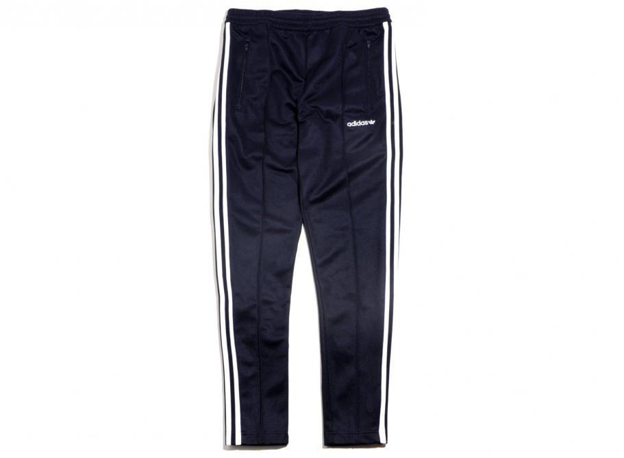 Adidas Originals Beckenbauer Open Hem Track Pant Navy