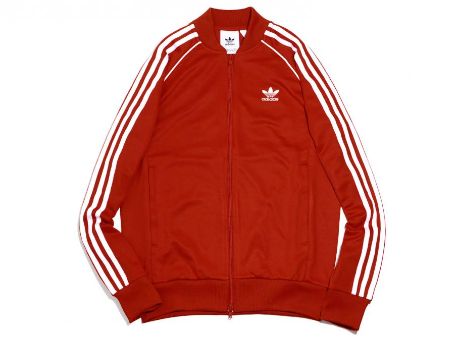 e3a0fe56f55e Adidas Originals SST Track Jacket Red CW1257   Soldes   Novoid Plus