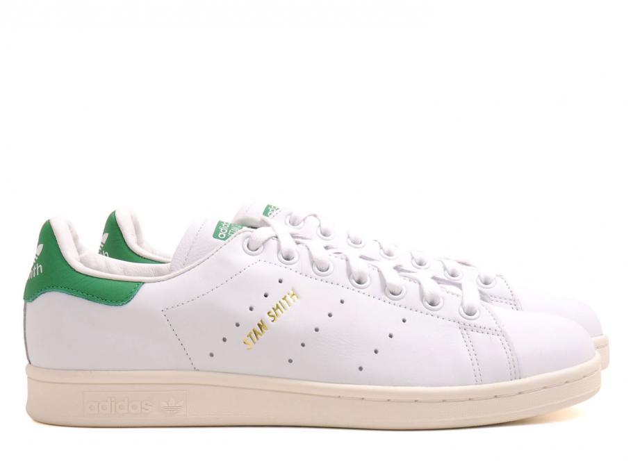 photos officielles 2c492 678c7 Adidas Originals Stan Smith White / Gold / Green