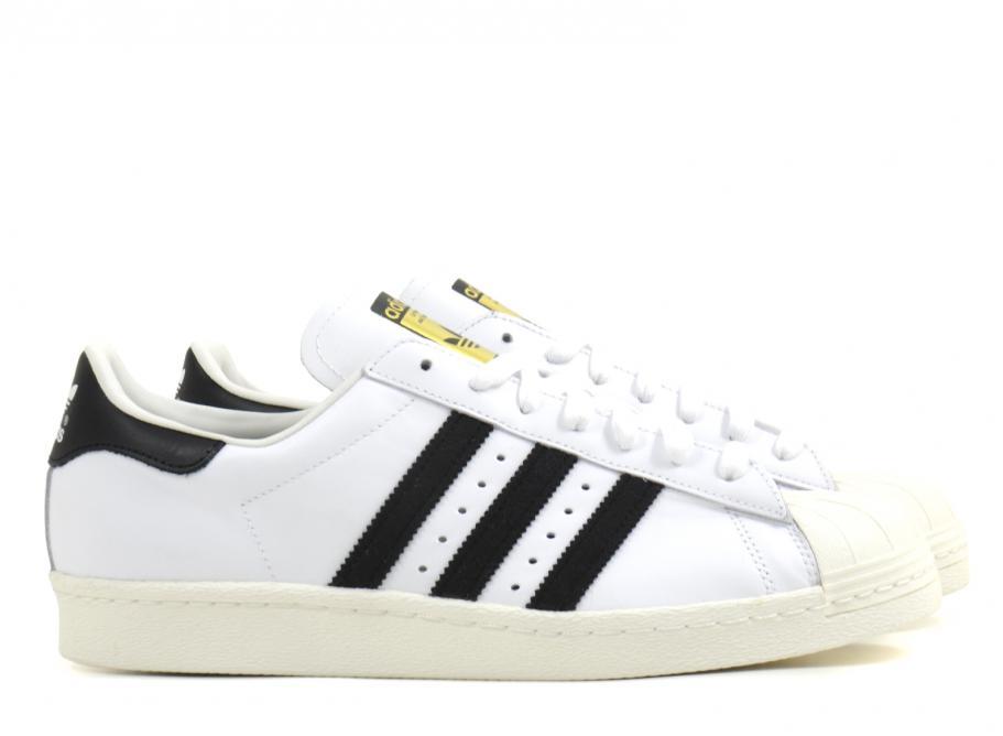 9b3fea41ea8 Adidas Originals Superstar 80s White   Black   Soldes   Novoid Plus