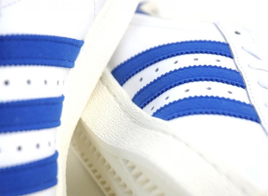 Adidas superstar degli anni ottanta bianco / nero originali royal / soldes / novoid plus