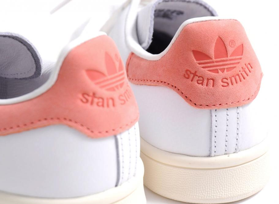 check-out 5d9a4 23daf Adidas Originals Stan Smith White / Ray Pink