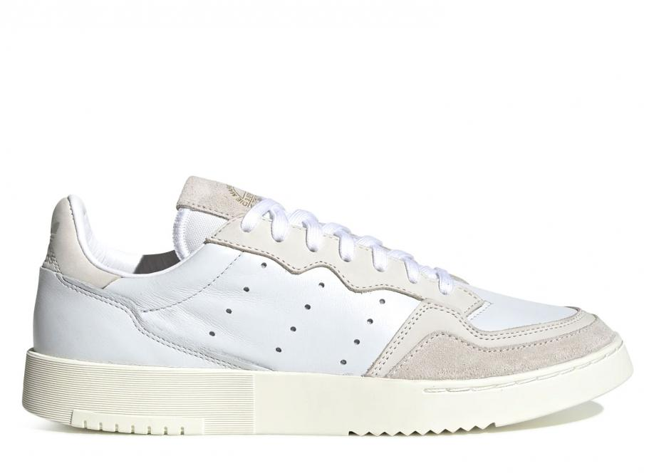 Royaume-Uni disponibilité e3e6f 132eb Adidas Originals Supercourt Crystal White