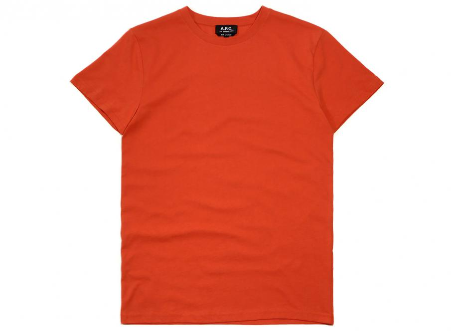 Apc jimmy t shirt red soldes novoid plus for Apc white t shirt