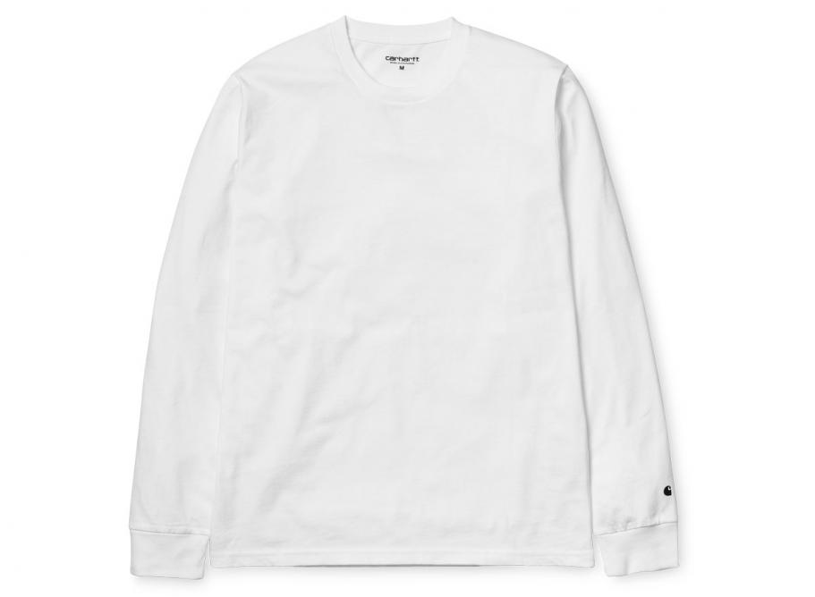 c5721421d5a Carhartt Base Tshirt LS White / Black I026265 / Soldes / Novoid Plus