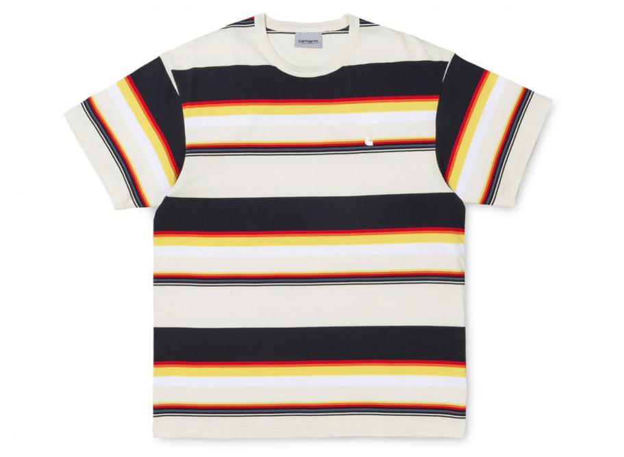 Soldes Sunder I024816 Stripes Novoid Carhartt Tshirt Wax White BrWCdxoe