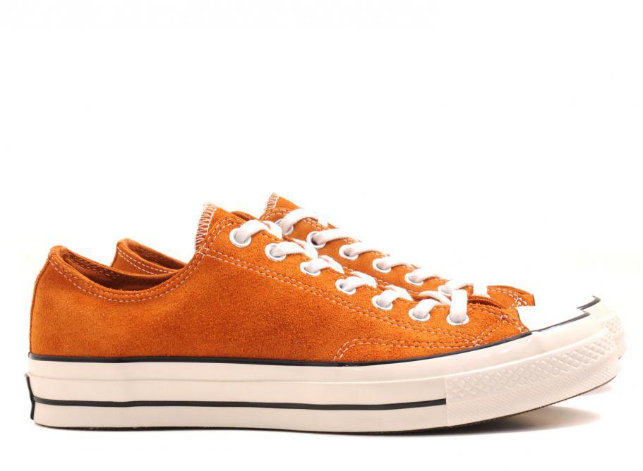 converse orange solde
