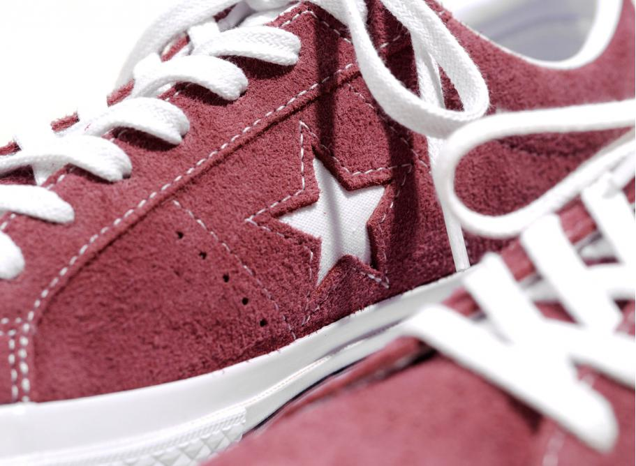 cce7f549136 Converse One Star OX Deep Bordeaux / White 158370C / Soldes / Novoid ...