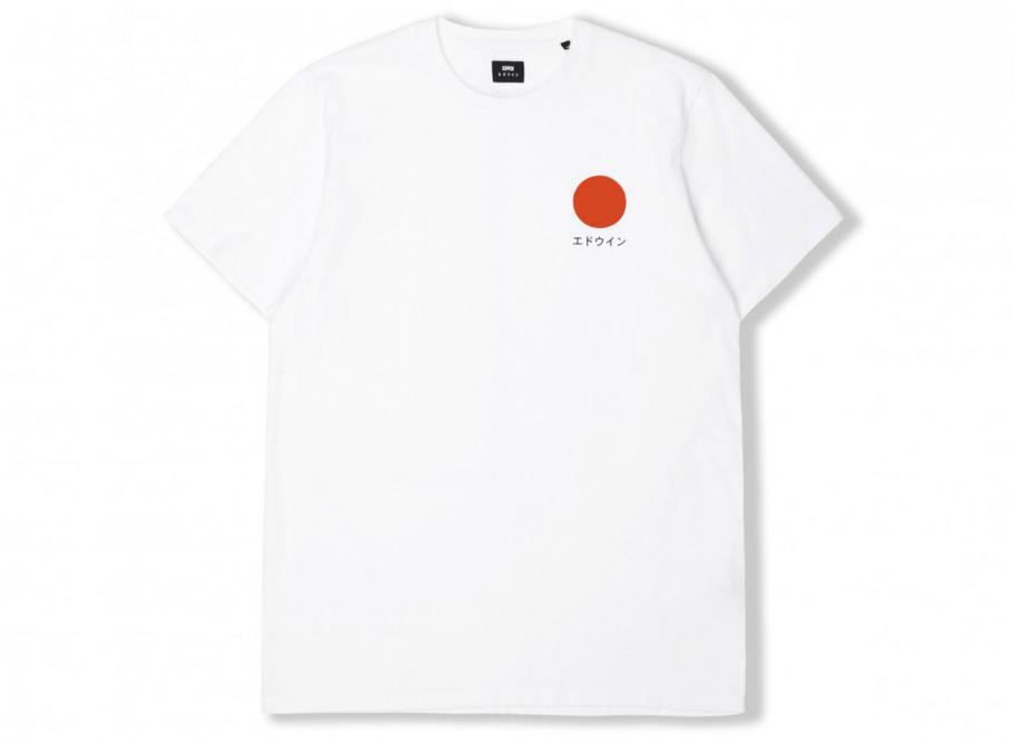 91b070fc02634e Edwin Japanese Sun Tshirt White   Soldes   Novoid Plus