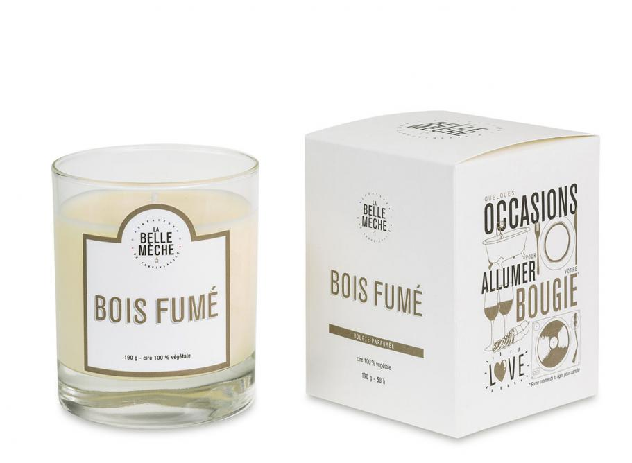 la belle meche scented candle bois fume novoid plus. Black Bedroom Furniture Sets. Home Design Ideas