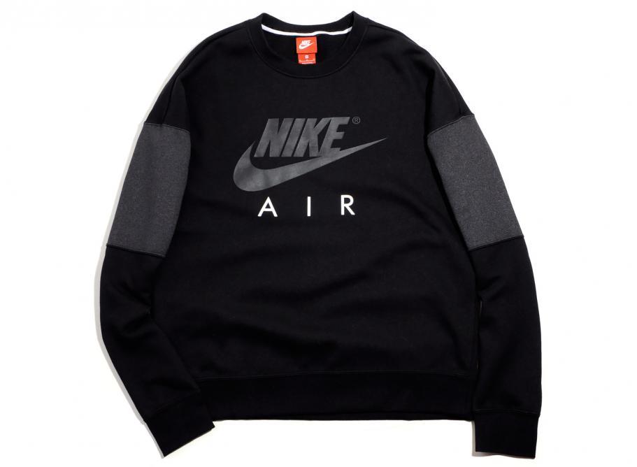 a0816451d3fe26 Nike Air Crew Neck Sweatshirt Black 861622-010   Soldes   Novoid Plus
