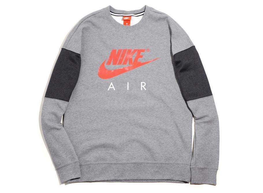8a6f692b0521 Nike Air Crew Neck Sweatshirt Grey 861622-091   Soldes   Novoid Plus