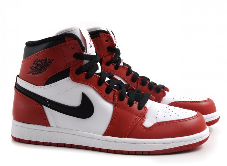 best loved fcc89 62ce7 Nike Air Jordan 1 Retro White / Varsity Red / Black