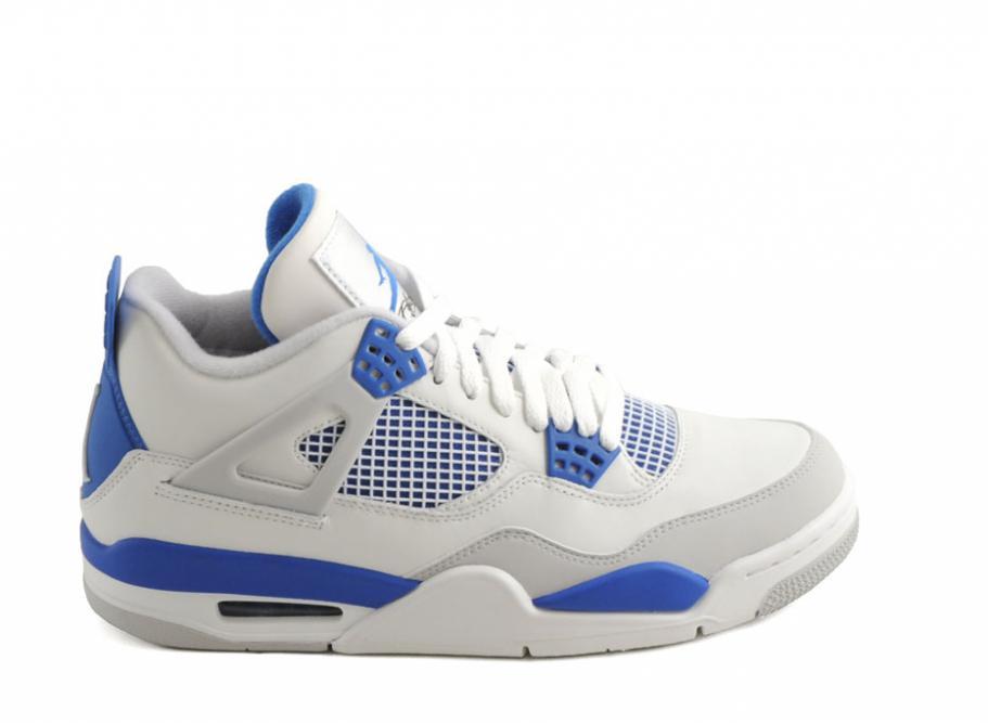 on sale 2fb4b 2c0d9 Nike Air Jordan 4 Retro White Military Blue