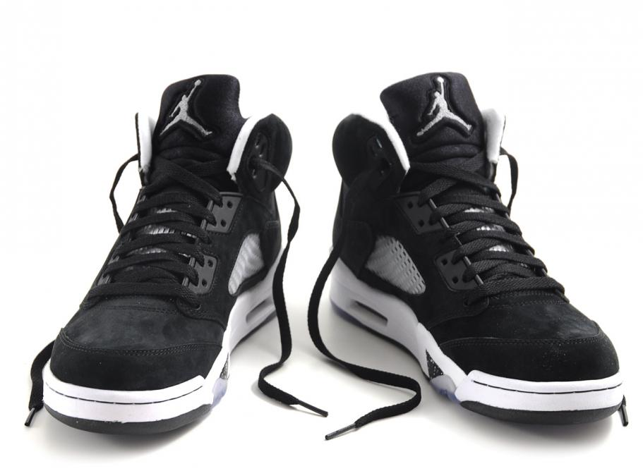 Nike Air Jordan 5 Oreo Black   Cool Grey   White   Soldes   Novoid Plus 9606243ce7