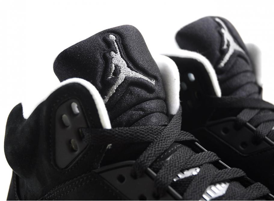 black and grey jordan 5