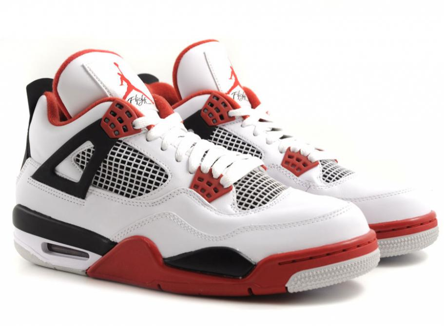 nike air jordan 4 retro white varsity red black. Black Bedroom Furniture Sets. Home Design Ideas
