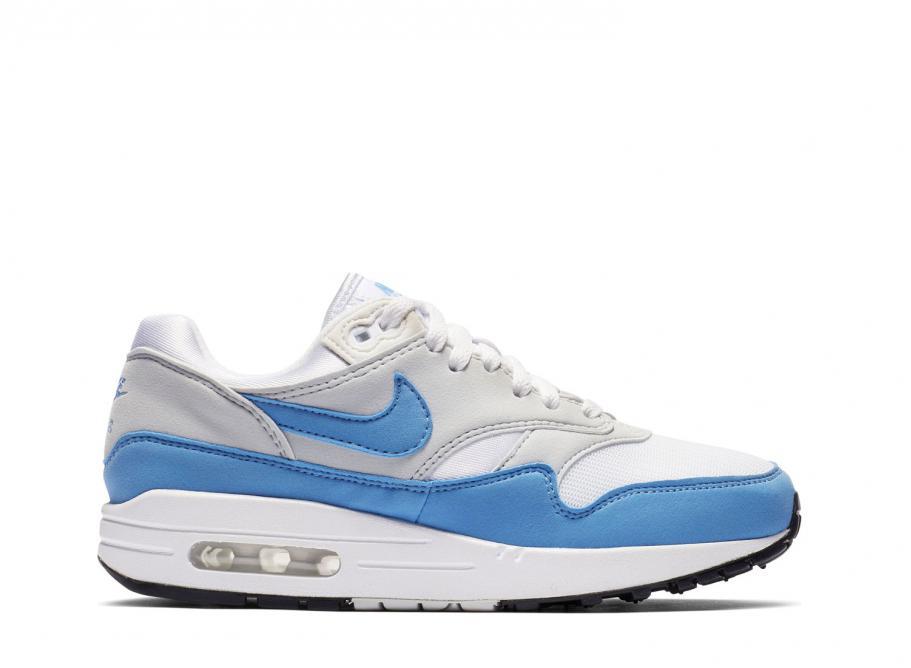 c47917f0ffdd3 Nike Wmns Air Max 1 Essential White   University Blue BV1981-100 ...