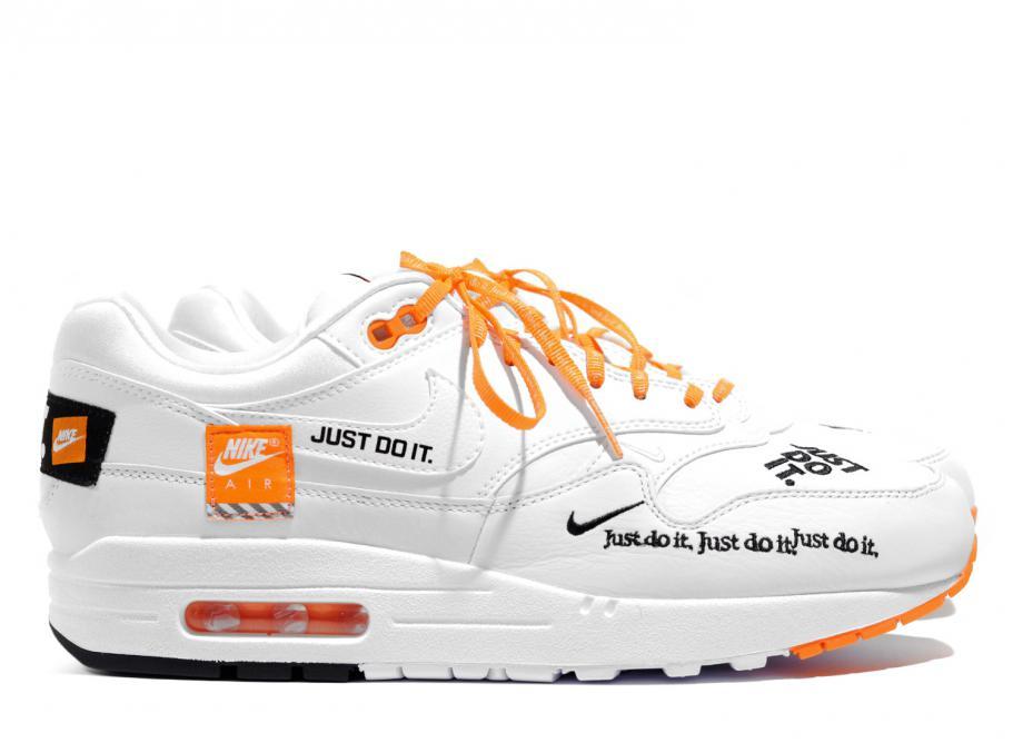 nike wmn air max 1 lx just do it white orange