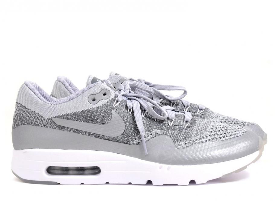 new style 7df4a 60903 Nike Air Max 1 Ultra Flyknit Wolf Grey 843384-001   Soldes   Novoid Plus