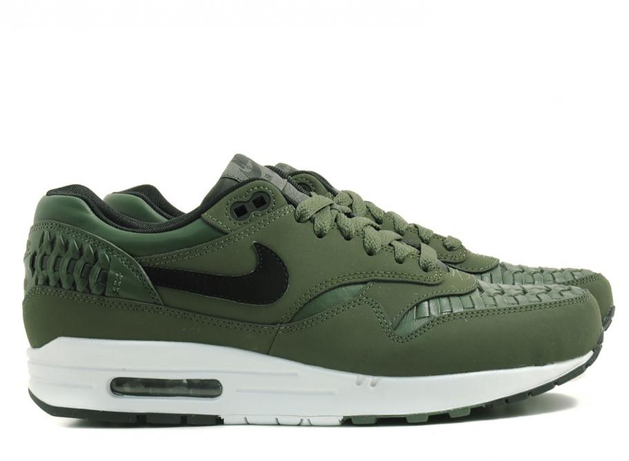 buy online 24d6c ab9df Nike Air Max 1 Woven Carbon Green   Soldes   Novoid Plus