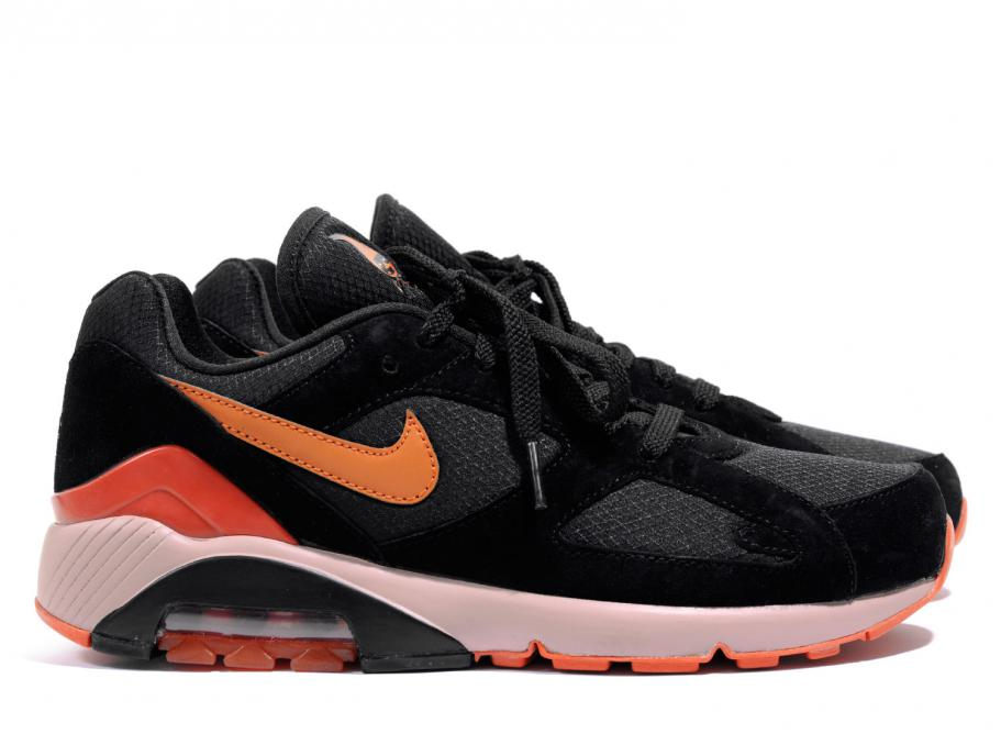 best service 5af33 e1c19 Nike Air Max 180 Black   Team Orange AV3734-001   Soldes   Novoid Plus