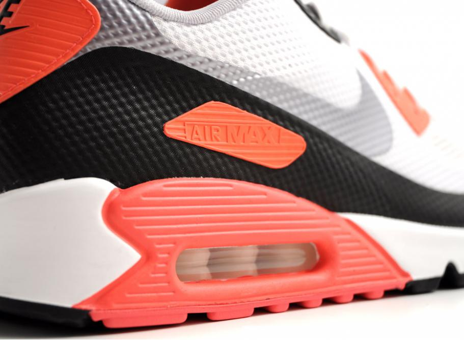 NIKE AIR MAX 90 HYPERFUSE NRG WHITE CEMENT / INFRARED