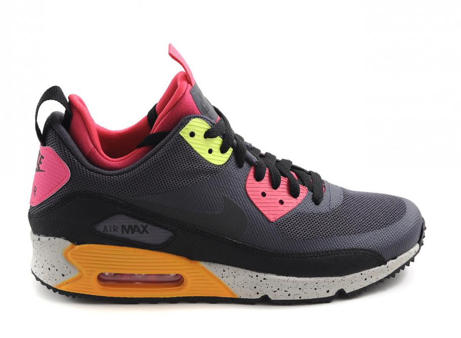 timeless design 99621 4432e Nike Air Max 90 Mid Sneakerboot Gridiron / Pink / Volt