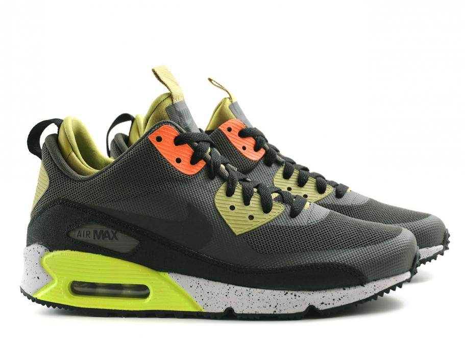 NIKE AIR MAX 90 MID SNEAKERBOOT NEW SPRINT / BLACK / GOLD