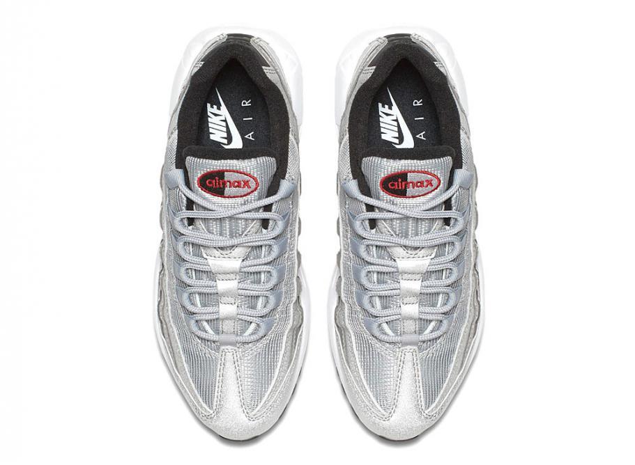 577e6e69ec Nike Air Max 95 QS Silver Bullet 918359-001 / Soldes / Novoid Plus