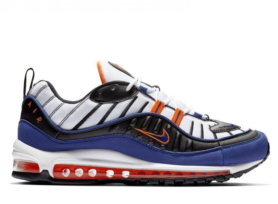 Nike Air Max 98 White   Deep Royal Blue CD1536-100   Soldes   Novoid Plus 9ceaddb6f