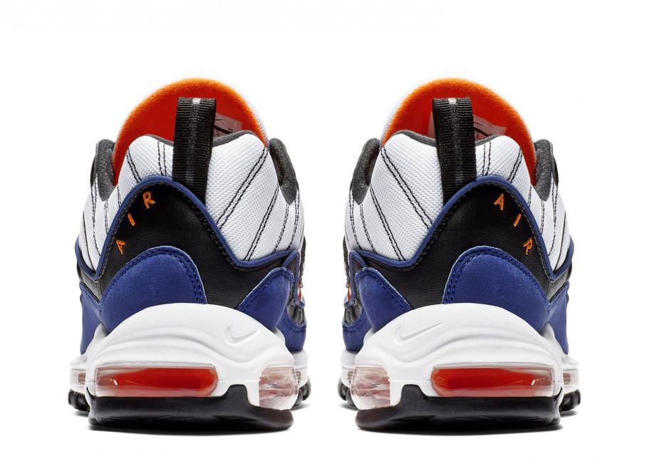 Nike Air Max 98 White   Deep Royal Blue CD1536-100   Soldes   Novoid ... c46425b21