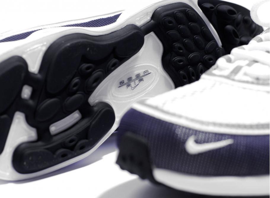 Nike Air Zoom Spiridon 16 White Navy Metallic Silver