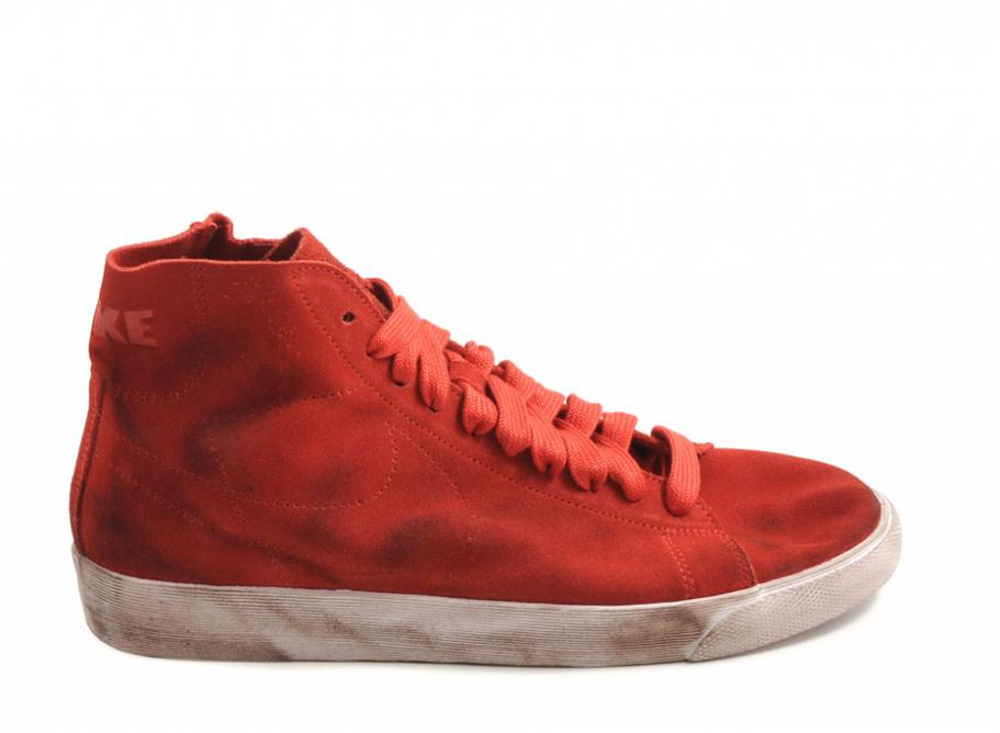 official photos 45b04 49422 Nike Blazer Mid Deconstructed Red  Soldes  Novoid Plus