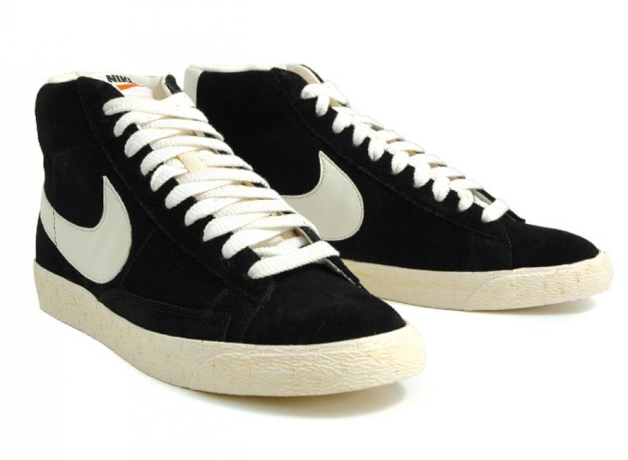 11b5691031420 Nike Blazer Mid Premium Vintage Suede Black / Sail / Soldes / Novoid ...